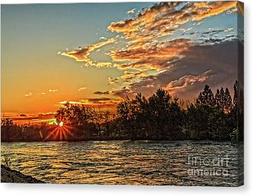 Sunset Over The Payette  Canvas Print by Robert Bales