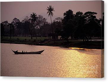 Sunset Over The Perfume River Canvas Print by Sami Sarkis