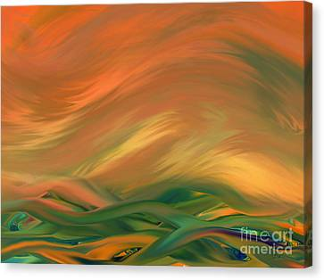 Sunset Over The Sea Of Worries Canvas Print by Giada Rossi