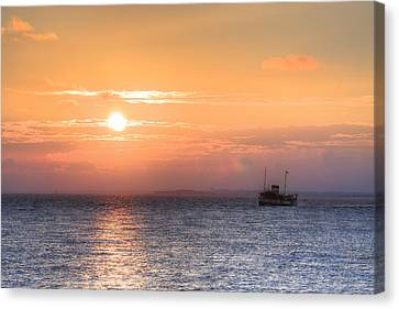 sunset over the Solent - England Canvas Print