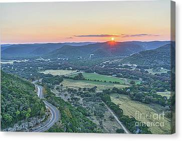 Sunset Over The Texas Hills Canvas Print