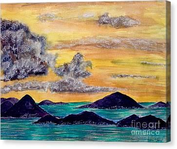 Sunset Over The Virgin Islands Canvas Print