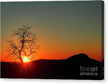 Canvas Print featuring the photograph Sunset Over Virginia by Darren Fisher