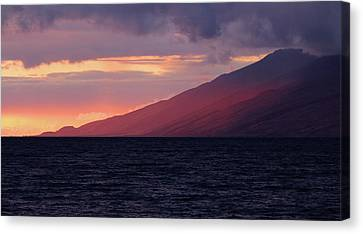Sunset Over West Maui Canvas Print