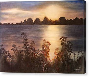 Sunset Over Westham Island Canvas Print by Victoria Heryet
