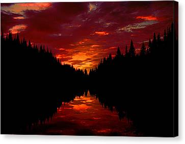 Sunset Over Wetlands Canvas Print