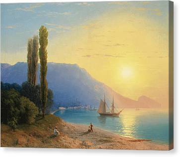 Sunset Over Yalta Canvas Print
