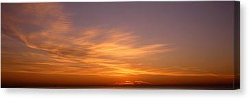 Sunset Ovr Lake Michigan Chicago Il Usa Canvas Print by Panoramic Images