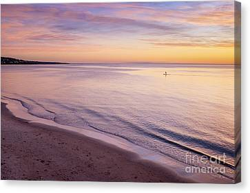 Sunset Paddle Canvas Print by Ray Warren