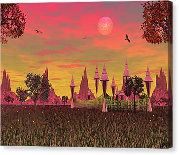 Canvas Print featuring the photograph Sunset Palace  by Mark Blauhoefer