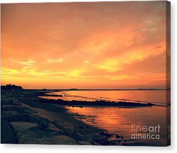 Sunset Paradise  Canvas Print by Mary Ann Weger