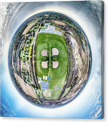 Canvas Print featuring the photograph Sunset Park Little Planet by Randy Scherkenbach