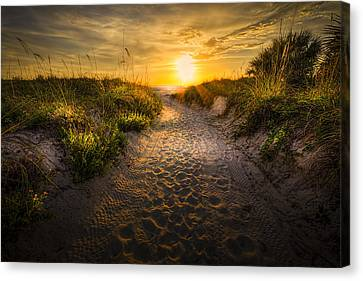 Sunset Path Canvas Print