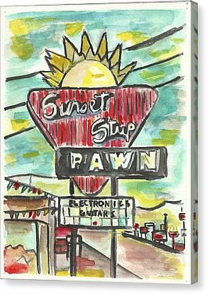 Sunset Pawn Canvas Print by Matt Gaudian