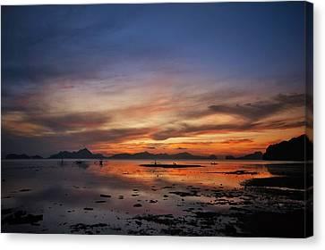 Sunset Pi Canvas Print