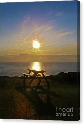 Sunset Picnic Canvas Print by Terri Waters