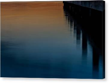 Sunset Pier Abstract Canvas Print