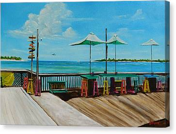 Sunset Pier Tiki Bar - Key West Florida Canvas Print