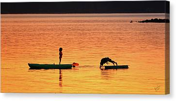 Sunset Play Canvas Print by Rick Lawler