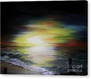 Sunset Point Canvas Print by Anna-Maria Dickinson
