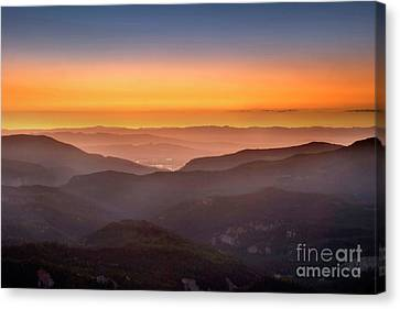 Sunset Point Canvas Print