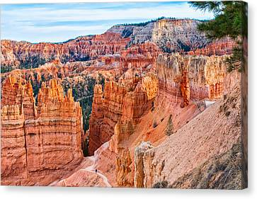 Canvas Print featuring the photograph Sunset Point Tableau by John M Bailey