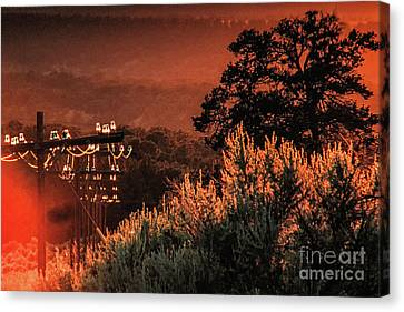 Sunset Power Light Canvas Print by Kim Lessel