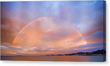 Sunset Rainbow Canvas Print
