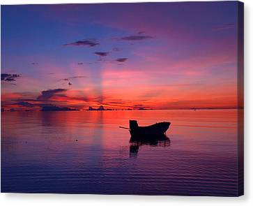Angthong Canvas Print - Sunset Rays by Steven Robiner