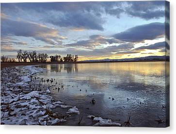 Sunset Refections Canvas Print by James Steele