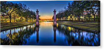 Oak Canvas Print - Sunset Reflection by Marvin Spates