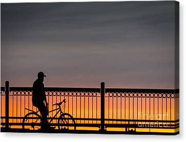 Sunset Reflection Canvas Print by Mike Ste Marie