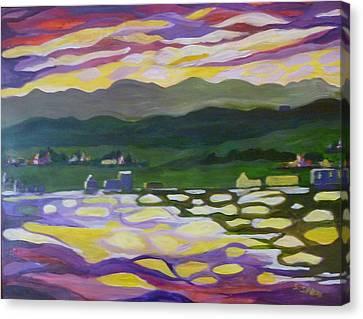 Sunset Reflection Canvas Print by Saga Sabin