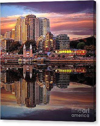 Sunset Reflections 2 - Luna Park By Kaye Menner Canvas Print