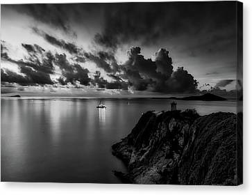 China Cove Canvas Print - Sunset Reflections by Caroyuen
