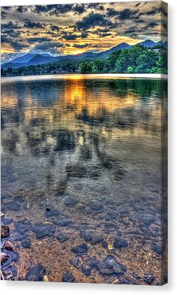 Sunset Reflections Lake Junaluska Sunset Blue Ridge Mountains North Carolina Canvas Print