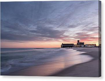 Sunset Reflections On The Atlantic Canvas Print by Scott Brinkerhoff