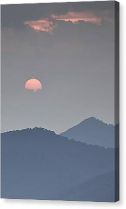 Sunset Repition - Blue Ridge Parkway Sunset Scene Canvas Print by Rob Travis