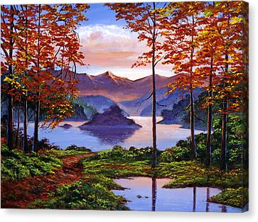 Sunset Reverie Canvas Print by David Lloyd Glover