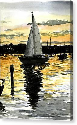 Sunset Ride Canvas Print by Paul Gardner