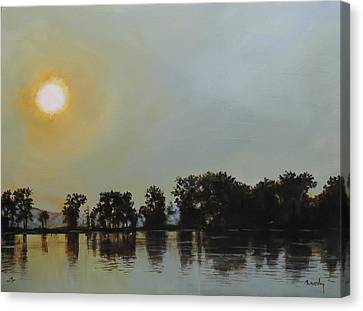 Sunset Ride Canvas Print