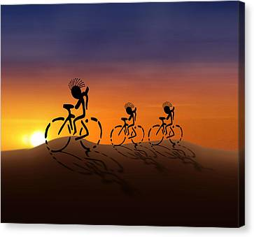 Sunset Riders Canvas Print by Gravityx9 Designs
