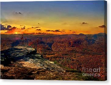 Sunset Rock Beauty Canvas Print