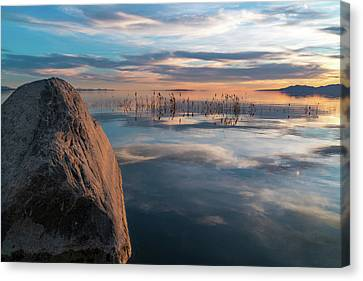 Sunset Rock Canvas Print by Justin Johnson
