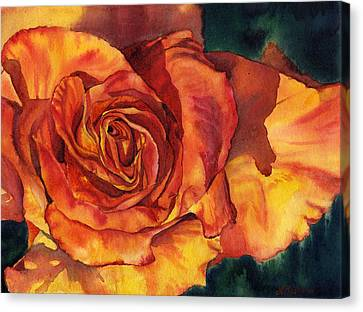Sunset Rose Canvas Print by Leslie Redhead