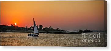Sunset Sail Canvas Print by Charles Dobbs