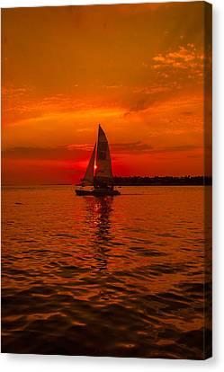 Us1 Canvas Print - Sunset Sail by Dan Vidal