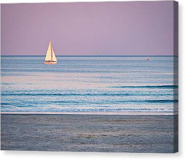 Canvas Print - Sunset Sail - Ogunquit -maine by Steven Ralser