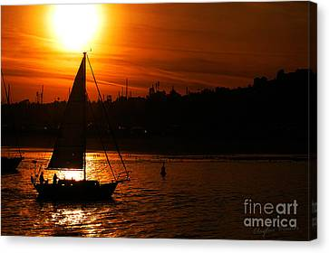 Bruster Canvas Print - Sunset Sailing by Clayton Bruster