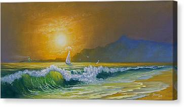 Sunset Sails Canvas Print by C Steele